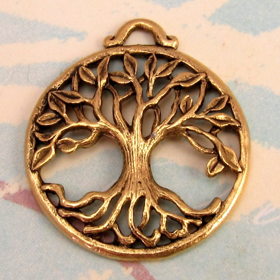 Tree of life pendant antique gold ag194 for What is the meaning of the tree of life jewelry