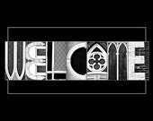 WELCOME - Photo Letter Art, Letter Photography, 11x14 Print ready to ship