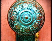 Antique Verdigris Doorknob - Fine Art Photography Print - custom listing for Jane Lynton 4 5x7's of chosen doorknobs.