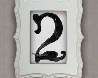 Wedding Table Number Cards - Set of 16 4x6 Number Photos