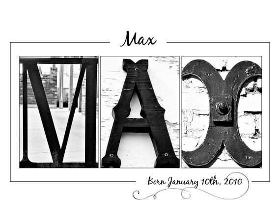 Custom Name Letter Art Photography - Name or New Baby
