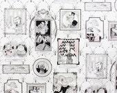 1y A Ghastlie Gallery Natural White  The Ghastlies Alexander Henry Fabric