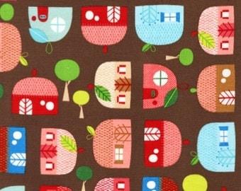 Appleville - Houses by Suzy Ultman Robert Kaufman Fabrics ASD-11467-195 brown