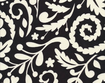 "1 yard 21"" McKenzie black swirl - Dena Designs fabric"