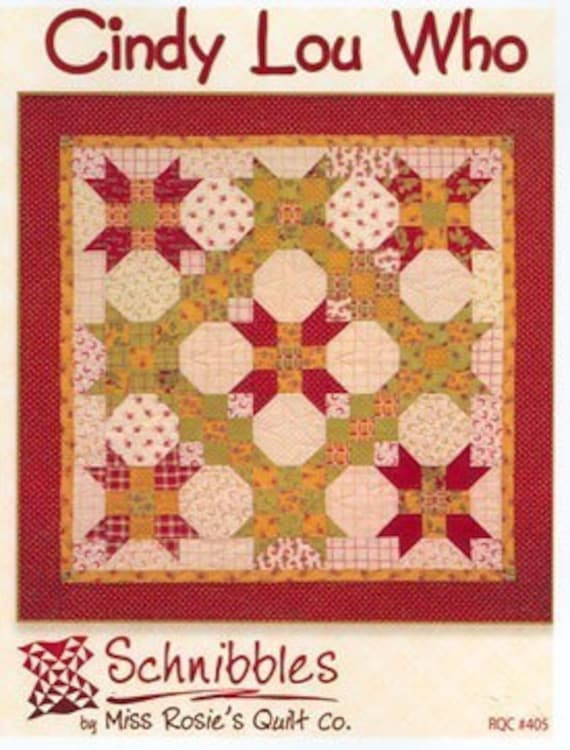 Cindy Lou Who Quilt Pattern Miss Rosie S Schnibbles
