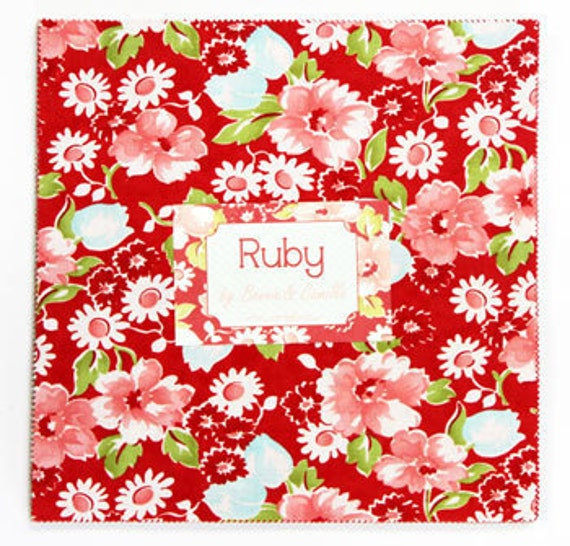 Ruby 10 inch squares Layer Cake Moda Fabric - bonnie & camille