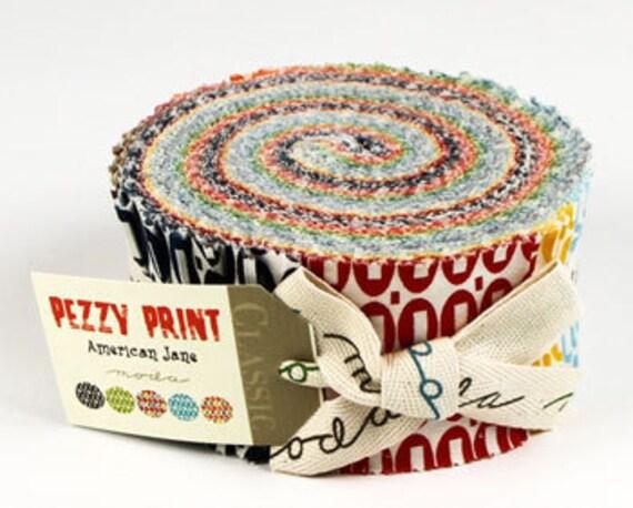 Pezzy Print Jelly Roll Strips - Moda Fabrics by American Jane