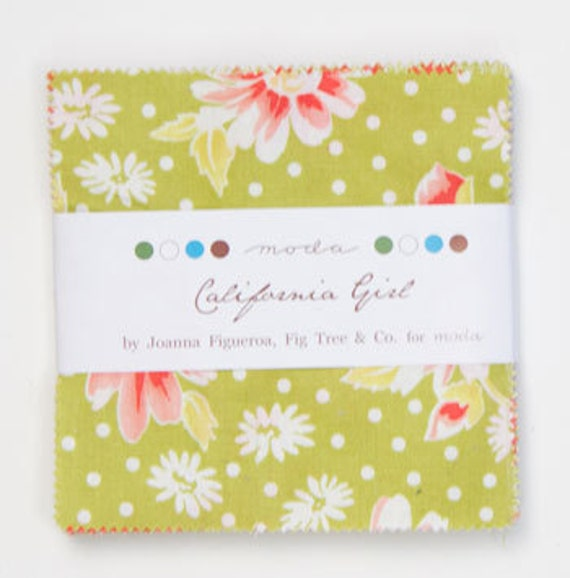California Girl 5 inch charm pack Moda Fabric by Fig Tree Quilts