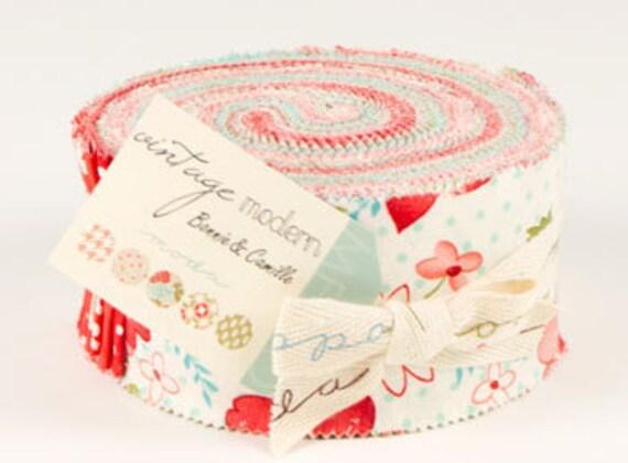 Jelly Roll Strips - Vintage Modern Moda Fabrics by bonnie & camille