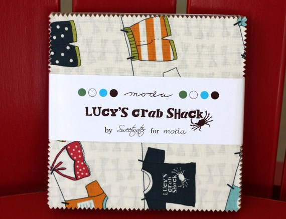 Lucy's Crab Shack 5 inch charm pack Moda Fabric by Sweetwater