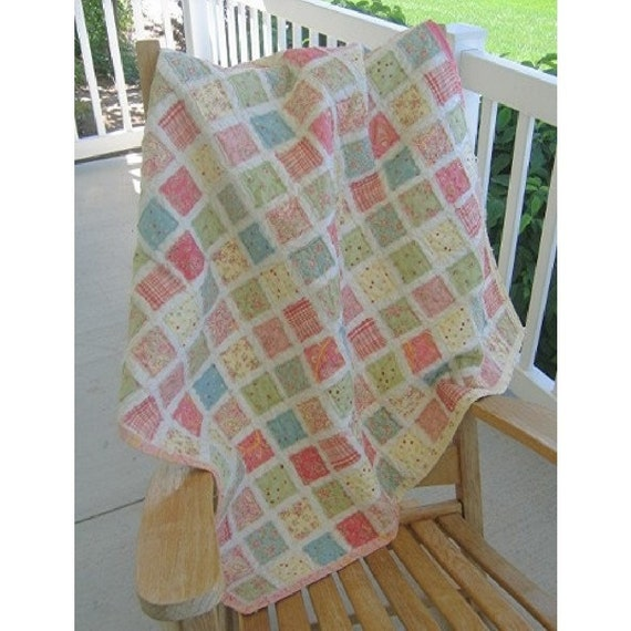 Quilt Top Kit Vintage Baby Quilt Plus Pattern