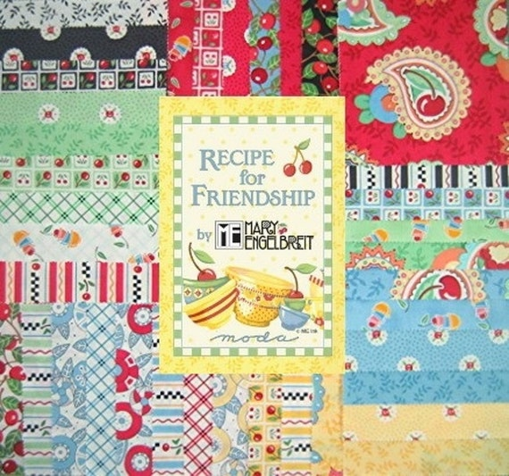 RECIPE FOR FRIENDSHIP 5 in. charm squares pack - 37 squares MODA
