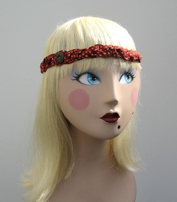 HALF OFF SALE- Hippie Headband -Love and Flowers