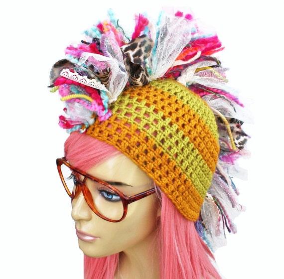 Crochet Mohawk Beanie- Eclectic Punk Series