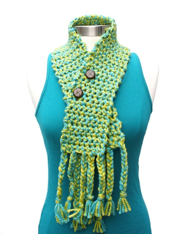 ON SALE Half Off was 24- Crochet Cowl- Under the Sea