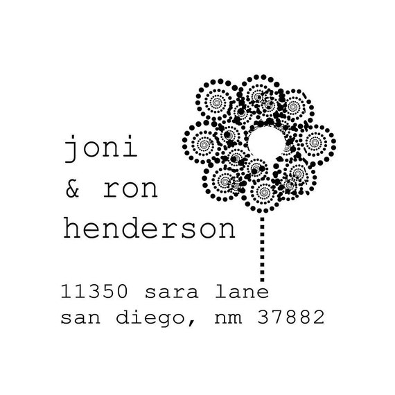 Custom Address Stamp - Save the Date Stamp - Wedding or Housewarming Gift - Joni and Ron