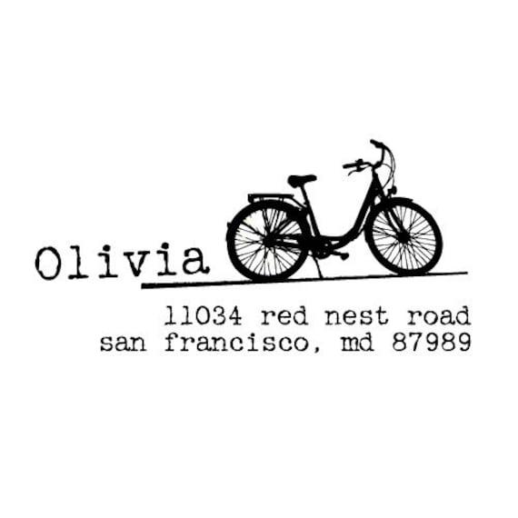 Custom  Stamp - Housewarming Gift, Wedding, Thank You, Baby Shower - Olivia Design