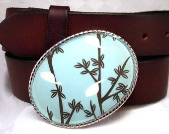Belt Buckle Tweet Tweet Little Birdie Blue
