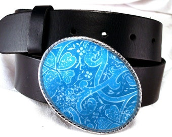 Belt Buckle Sky Blue