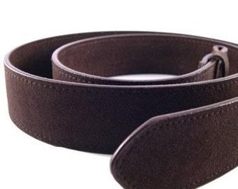 Brown Suede Belt Strap 1.5 Inch Width