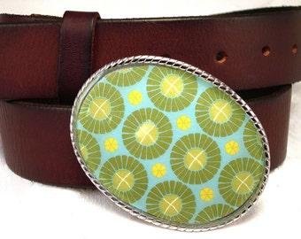 Groovy Green Belt Buckle