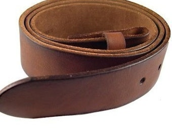 Brown Leather Belt Strap 1.5 Inch Width