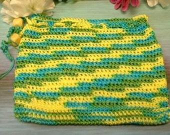 Nylon Multi Blue/Green/Yellow Treasure Bag