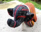 REDUCED - Maio Vintage Toy Stuffed Elephant Batik