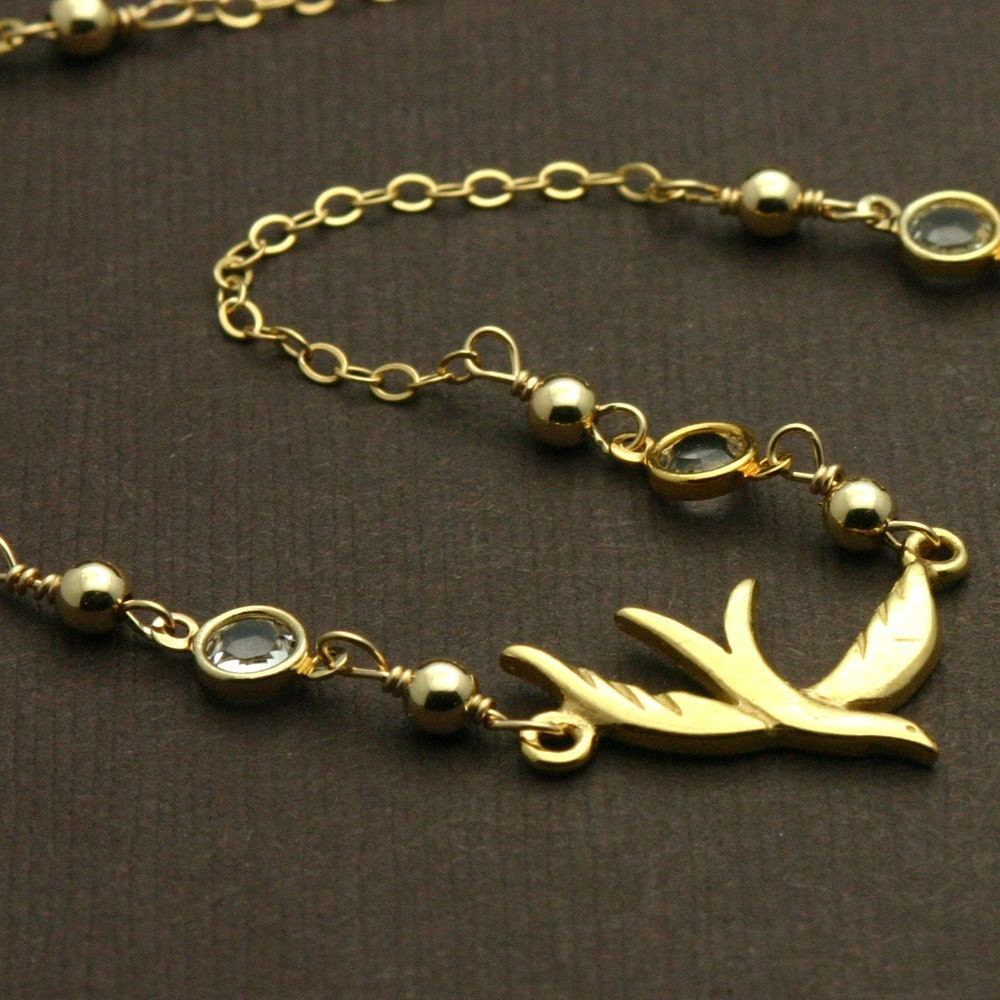 gold bird necklace delicate gold jewelry necklace