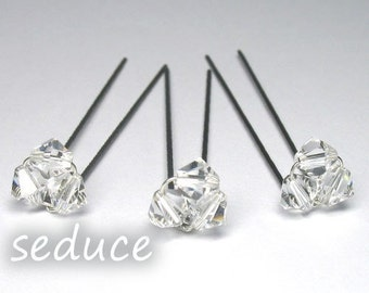 Set of 6 Swarovski Crystal Hairpins for Prom / Wedding