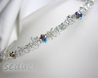 CRYSTAL CLUSTER DIAMANTE Bridal Prom Swarovski Tiara Headband