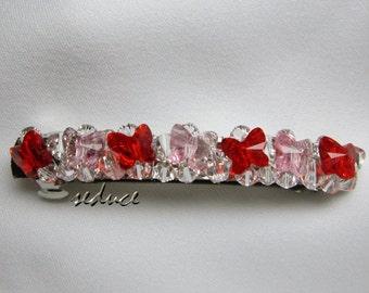 Bridal Hair Barrette Butterfly Swarovski Crystal