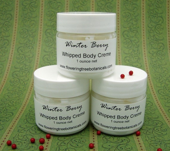 HALF PRICE SALE - Winter Berry Whipped Body Creme - 1 ounce Try Me Size