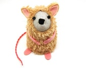 Cat Mouse - Collectable Artist Bear art rat artists mice felt mouse cute soft sculpture toy stuffed plush - Terry the mouse in a cat suit