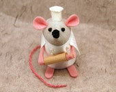 Chris the Chef Mouse - cute felt mouse ornament by TheHouseOfMouse