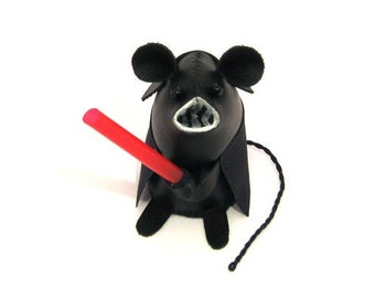 Darth Vader Mouse ornament artisan Star Wars gift for husband boyfriend brother dad granddad uncle rat hamster mice gift Star Wars Geek