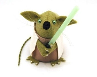 Star Wars Yoda Mouse ornament mouse rat hamster cute gift for Star Wars fan men man dad husband boyfriend brother uncle geek nerd collector