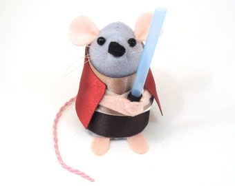 Star Wars Obiwan Kenobi Mouse ornament rat hamster cute gift for Star Wars fan men man dad husband boyfriend brother geek nerd collector