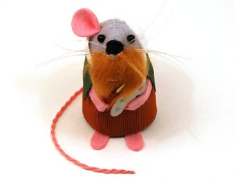 Vincent Van Gogh Mouse - collectable art rat artists mice felt mouse cute soft sculpture toy stuffed plush doll gift for painter art lover