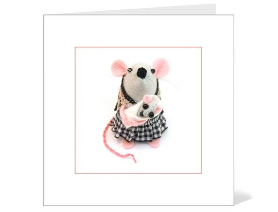 Mother and Baby Mouse Gift Card