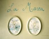 La Marea, Set of two prints - Nursery wall Art - Baby Girl Nursery - Baby Nursery Prints -  Baby Nursery - Baby Rabbit