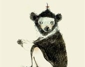 I for INDRI - Alphabet art - Alphabet Letters - Baby Zoo Animals - Safari Nursery - Nursery art - Nursery decor - Baby Animals
