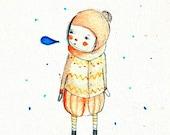 Winter tales, where - Print - 4x6 - Nursery art - Nursery decor - Kids room decor - Children's art - Children's wall art - kids wall art