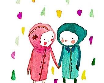 Take my hand - Print - 6x8 - Nursery art - Nursery decor - Kids room decor - Children's art - Children's wall art - kids wall art