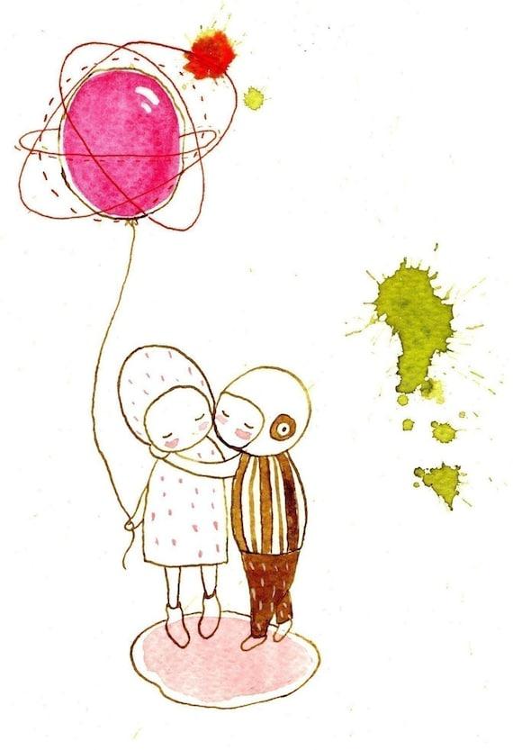 Kiss me - print - Nursery art - Nursery decor - Kids room decor - Children's art - Children's wall art - kids wall art