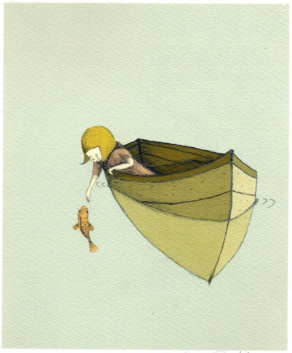 Sofi and the fish Print 8x11