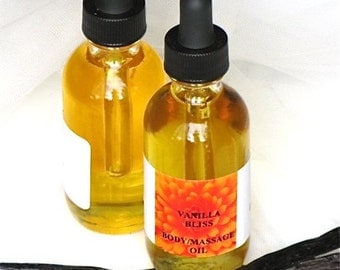Vanilla Bliss Organic Body Oil 2 oz