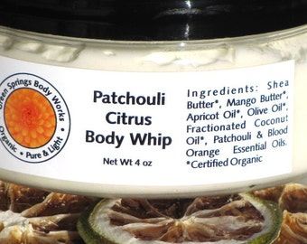 Patchouli Citrus Shea Body Whip