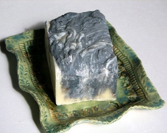 Bamboo Charcoal Goat  Milk Soap - Lemongrass Mint