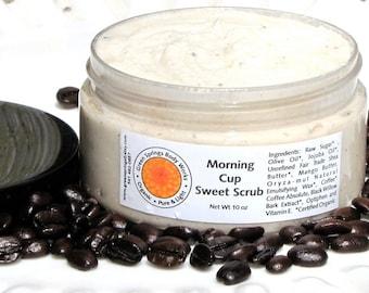Morning Cup Shower and Glow- Body Polish - Sugar Scrub with Coffee Absolute -Vegan-Organic